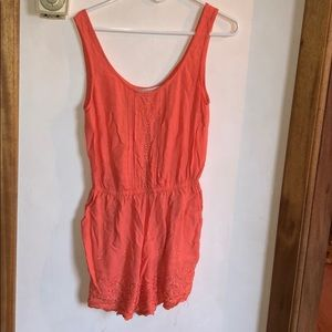 Peach colored romper
